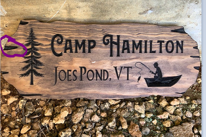 cabin sign question