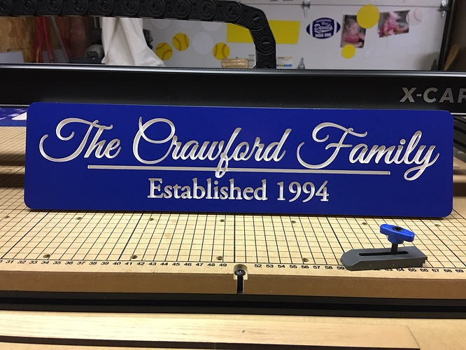 crawford family sign